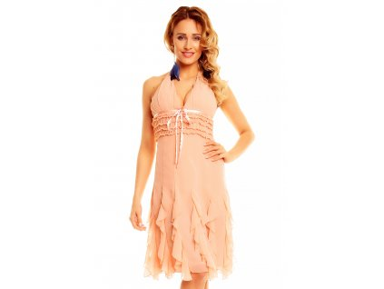 dress mayaadi hs 310a light salmon l