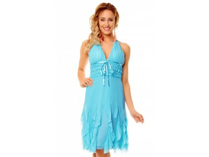 dress mayaadi hs 310a turquoise l