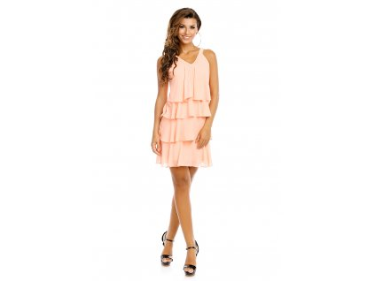 dress mayaadi hs 372 light salmon l