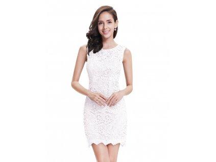 Krátké krajkové pouzdrové šaty