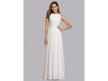 Svatební dlouhé šaty s krajkou
