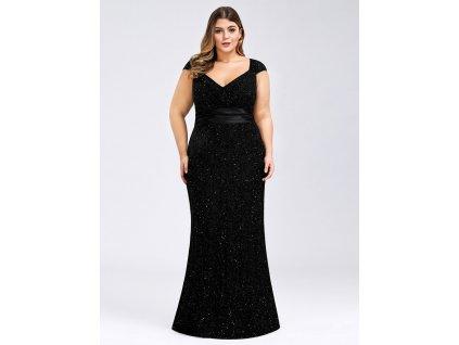 společenské šaty černé pro větší velikosti