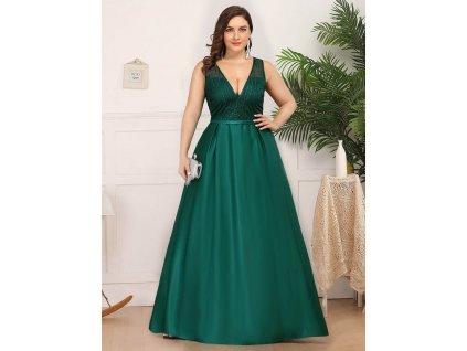 dlouhé společenské šaty zelené