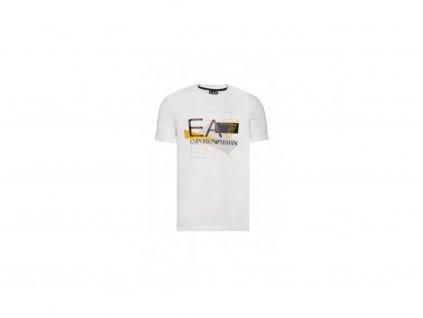 ARMANI tričko s krátkým rukávem bílé (Velikost L)