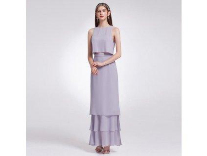 jemně fialkové šaty dvoudílné