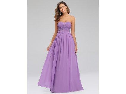 Dlouhé levandulové šaty