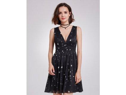 Krátké černé šaty letní