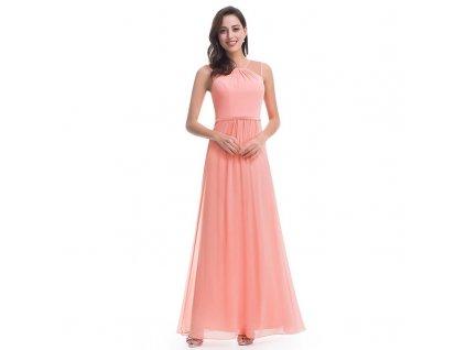 Dlouhé meruňkové šaty