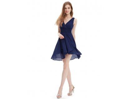 Ever Pretty šifonové šaty krátké tmavé modré 3644
