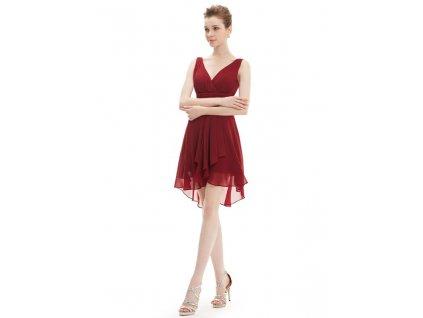 Ever Pretty šifonové šaty krátké bordo 3644