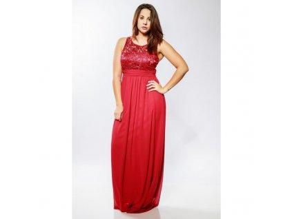 červené šaty deborah 1233