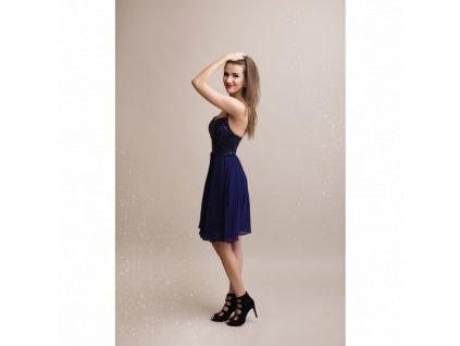 tmavě modré šaty 1330