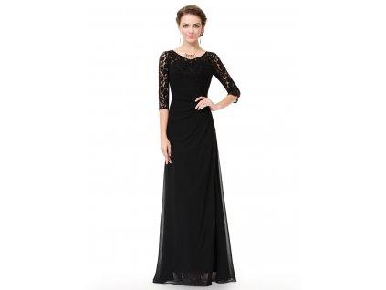 Dlouhé černé šaty s dlouhým rukávem