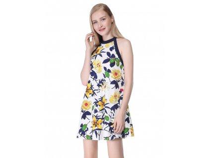 krátké letní šaty s květy