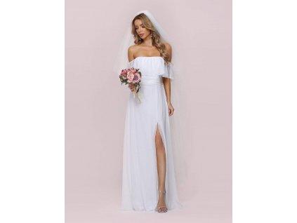 Romantické bílé šaty svatební