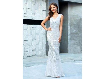 Luxusní dlouhé svatební šaty s flitry