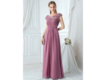 EP09993OD šaty pro družičku fialková orchidej