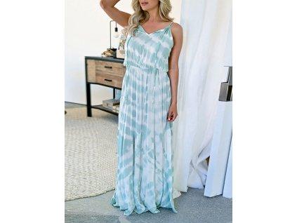 Dlouhé splývavé šaty pastelové