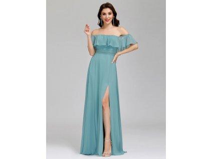 EP00968DB šaty s rozparkem