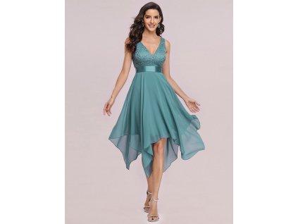 Šaty s cípy dusty blue