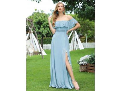 Ever Pretty světle modré šaty s volánkem 7