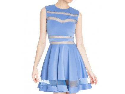 A Společenské šaty krátké s průhledy OH333