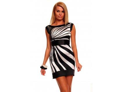 A Luxusní dámské šaty nevšední zebrování Mayaadi HS248