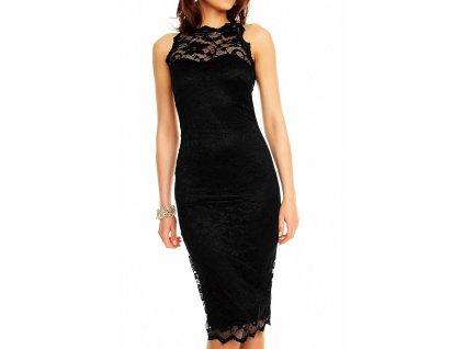 Luxusní šaty do společnosti s krajkou Mayaadi S