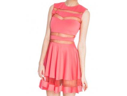 A Společenské šaty krátké s průhledy OH334