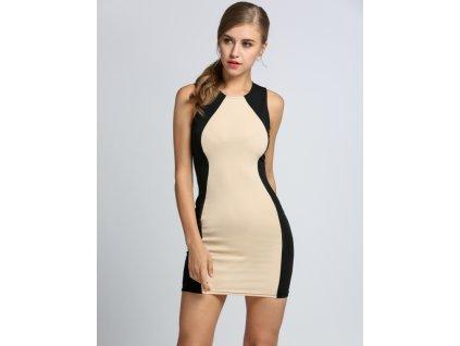 A Elegantní pouzdrové šaty dvoubarevné 259
