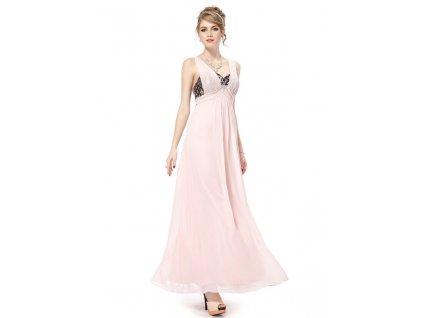 Ever Pretty plesové šaty s krajkou jemně růžové 8031