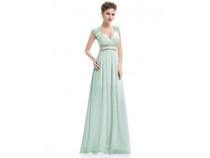 Ever Pretty šaty dlouhé elegantní mentolové 8697 (Velikost 3XL / 48 / 16 / 20)