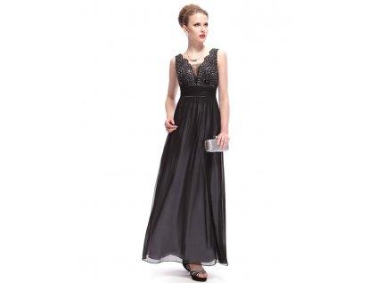 Dámské elegantní Ever Pretty plesové šaty černé 8019 (Velikost 3XL   48   16    07130b6363