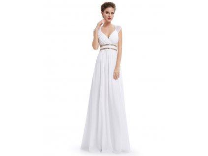 Bílé dlouhé večerní šaty Ever Pretty 8697