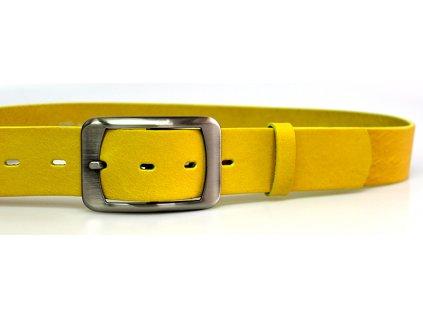 A Dámský žlutý pásek s hranatou sponou ČR 4cm b20c66e580