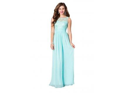 A Zelinkavé šifonové šaty dlouhé s krajkou 84-3