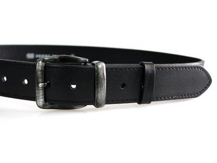 Pánský kožený pásek černý 01-1-60