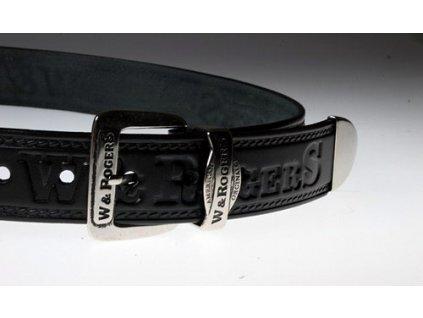 Pánský kožený pásek černý 15-60