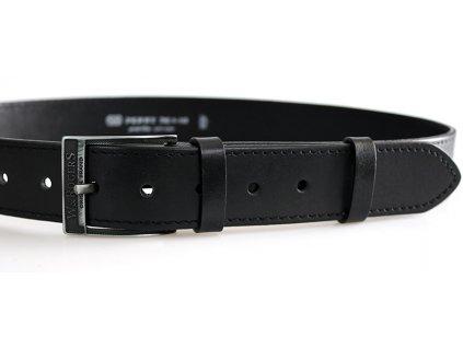 Pánský kožený pásek černý 17-1-60