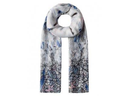 Vincenzo Boretti luxusní šátek, šálka modrá, šedá