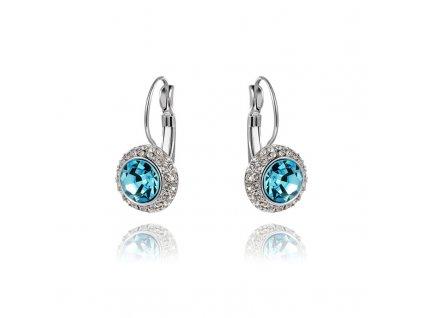 Náušnice dámské s modrým kamínkem