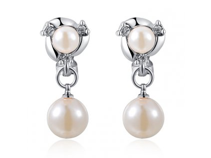 Náušnice dámské s perličkami