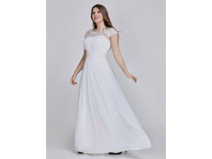 Dlouhé svatební šaty vhodné i na věneček