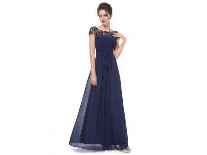 Ever Pretty plesové šaty s krajkou tmavě modré 9993 (Velikost 3XL / 48 / 16 / 20)