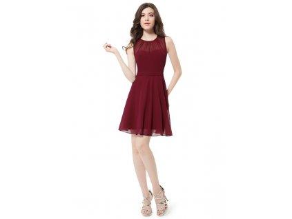 Ever Pretty krátké šaty bordo 5253 (Velikost 3XL / 48 / 16 / 20)