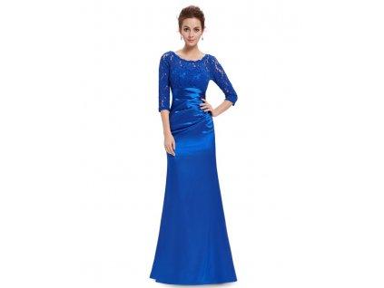 Společenské šaty Ever Pretty 9882 modré safír (Velikost 3XL / 48 / 16 / 20)