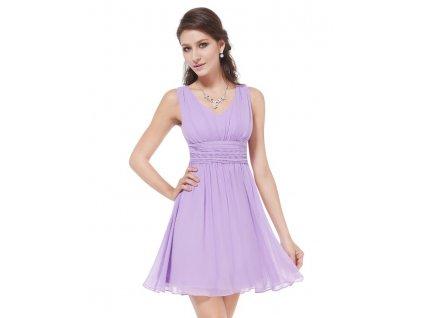 Ever Pretty letní šaty krátké fialkové 3909 (Velikost 3XL / 48 / 16 / 20)