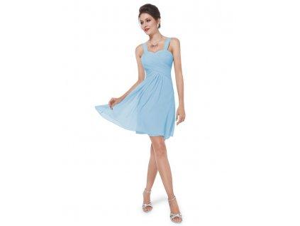 Ever Pretty letní šaty krátké jemně modré 3539 (Velikost 3XL   48   16   ed7c0be054