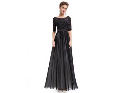 Ever Pretty plesové šaty černé 9991 (Velikost 3XL / 48 / 16 / 20)
