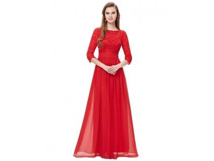 Společenské šaty Ever Pretty 8412 červené (Velikost 3XL / 48 / 16 / 20)